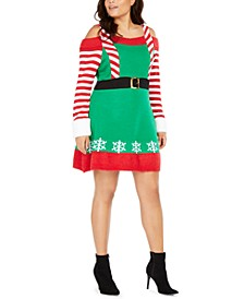 Derek Heart Trendy Plus Size Cold-Shoulder Elf Dress
