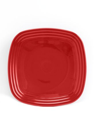 Scarlet Square Luncheon Plate
