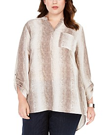 Plus Size High-Low Hem Tunic