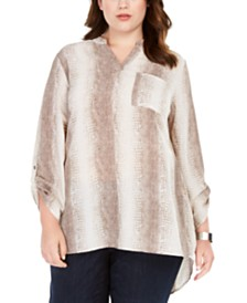 NY Collection Plus Size High-Low Hem Tunic