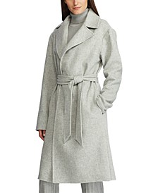 Belted Wool-Blend Coat