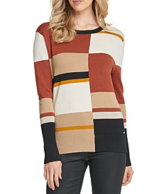 Colorblocked Crewneck Sweater