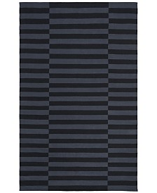 Ludlow Stripe LRL7350E Onyx Area Rug Collection