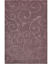 Malloway Shag Mal1 Violet Area Rug Collection