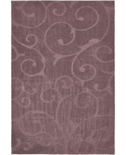 Bridgeport Home Malloway Shag Mal1 Violet Area Rug Collection