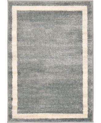 Lyon Lyo5 Gray 6' x 9' Area Rug