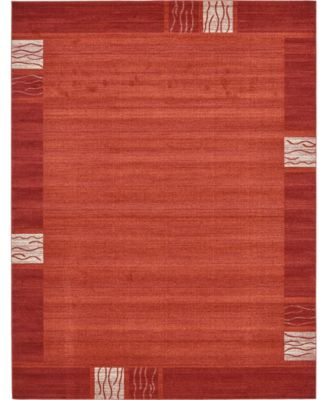 Lyon Lyo1 Rust Red 8' x 8' Square Area Rug