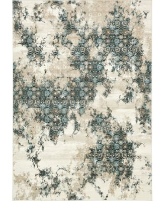 Ismay Ism5 Beige 6' x 6' Square Area Rug