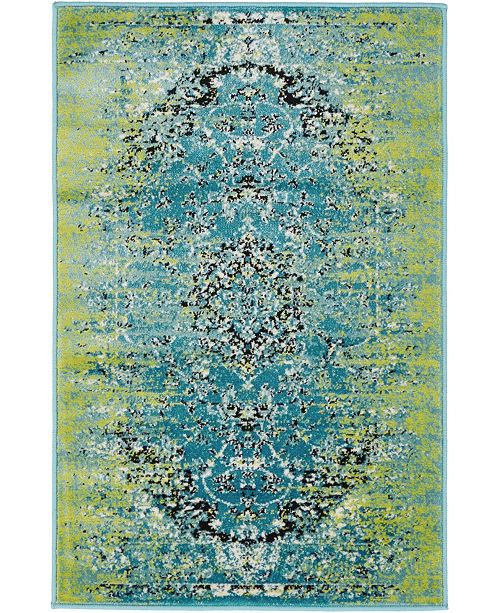 Bridgeport Home Linport Lin4 Blue Area Rug Collection