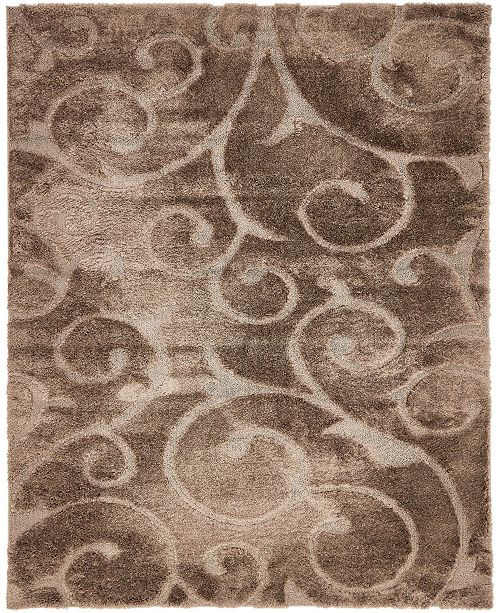 Bridgeport Home Malloway Shag Mal1 Brown Area Rug Collection