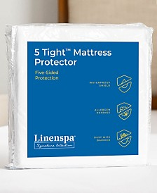 LinenspaSignature Collection5Tight Five-Sided Mattress Protector,Queen