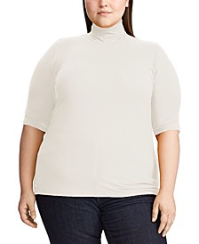 Plus Size Stretch Turtleneck Top