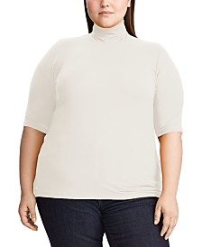 Lauren Ralph Lauren Plus Size Stretch Turtleneck Top
