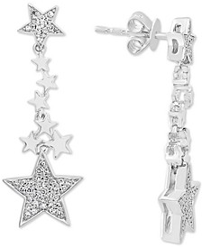 EFFY® Diamond Stars Drop Earrings (1/4 ct. t.w.) in 14k White Gold
