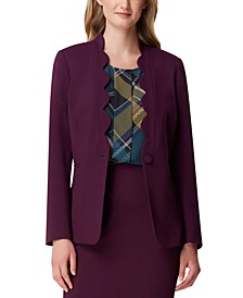 Petite Scalloped-Edge Blazer