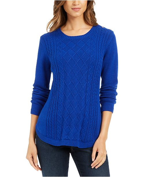 Charter Club Cable Sweater, Created For Macy's