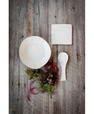 Lastra Winterland Stoneware Round Platter