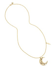 BCBGeneration Starry Moon Pendant Long Necklace