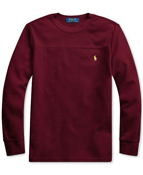 Polo Ralph Lauren Big Boys Waffle Knit Sweatshirt