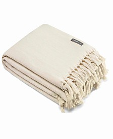 Vera Wang Twill Fringe Lace Throw