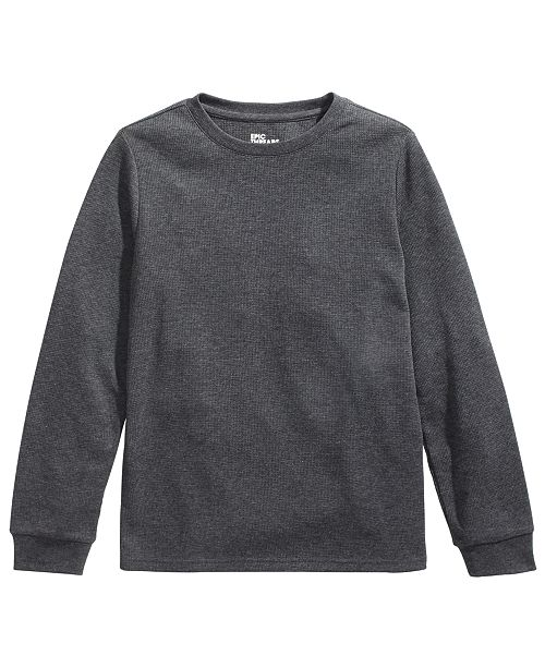 Epic Threads Big Boys Solid Thermal, Created For Macy's
