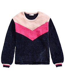 Big Girls Colorblocked Chenille Sweater, Created For Macy's
