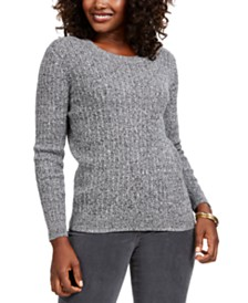 Karen Scott Cotton Baby Cable-Knit Sweater, Created for Macy's