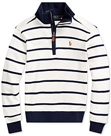 Toddler Boys Cotton Interlock Stripe Pullover