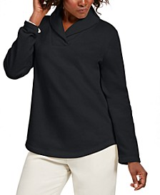 Sport Shawl-Collar Fleece Pullover, Created for Macy's