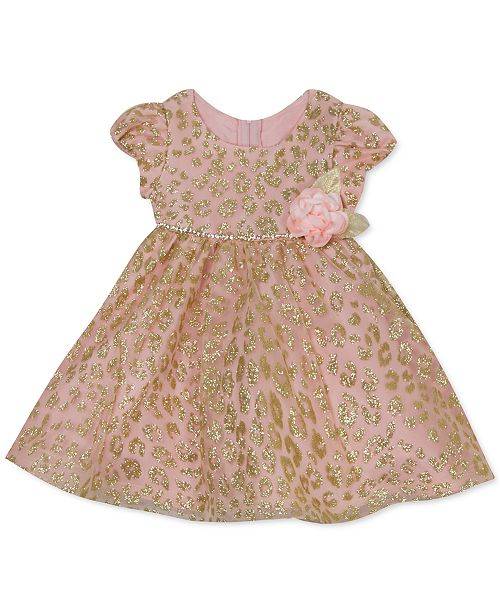 Rare Editions Baby Girls Glitter-Mesh Dress