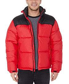 Men's Big & Tall Quilted Colorblock Puffer Jacket