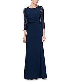 Petite Ruched-Waist Gown