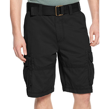 American Rag Mens Belted Relaxed Cargo Shorts