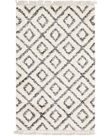 Bridgeport Home Lochcort Shag Loc2 Ivory Area Rug Collection