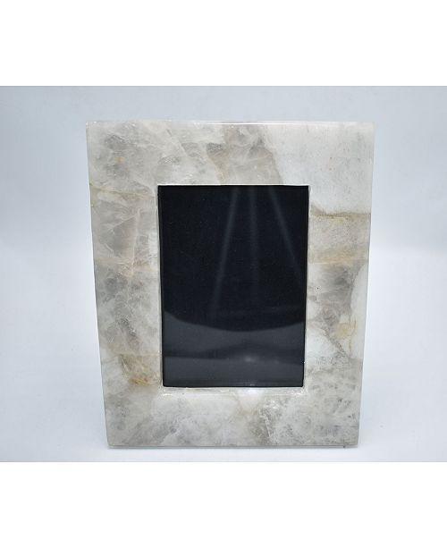 """Nature's Decorations - 10"""" H x 8"""" W Quartz Agate Picture Frame"""