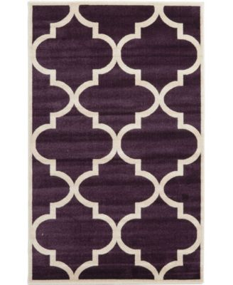 Arbor Arb3 Dark Purple 7' x 10' Area Rug