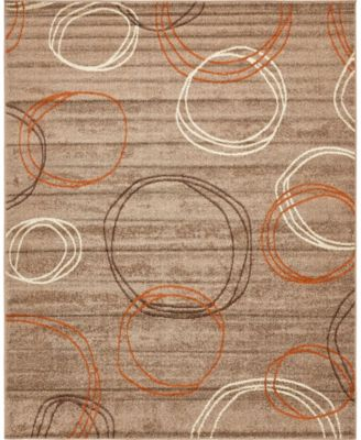 Jasia Jas05 Light Brown 9' x 12' Area Rug
