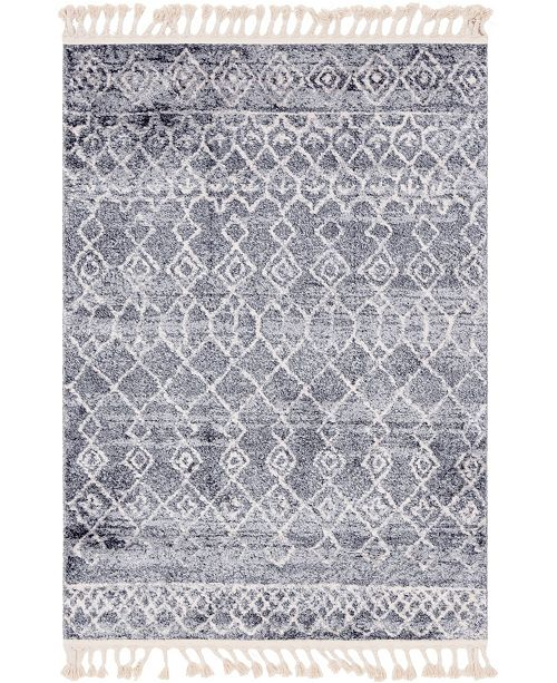 Bridgeport Home Levia Lev1 Dark Gray Area Rug Collection