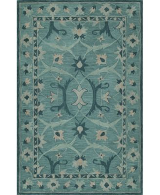 CLOSEOUT! Torrey Tor6 Teal 9' X 13' Area Rugs