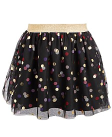 Epic Threads Toddler Girls Dot-Print Sparkle Skirt, Created For Macy's
