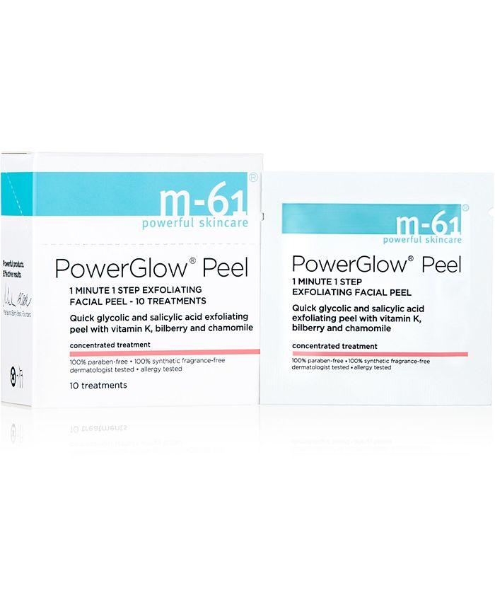 m-61 by Bluemercury - PowerGlow Peel 1 Minute 1-Step Exfoliating Facial Peel – 10 Treatments