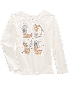 Little Girls Glitter Love Letter T-Shirt, Created For Macy's