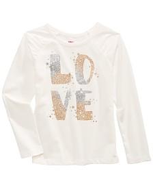 Epic Threads Little Girls Glitter Love Letter T-Shirt, Created For Macy's
