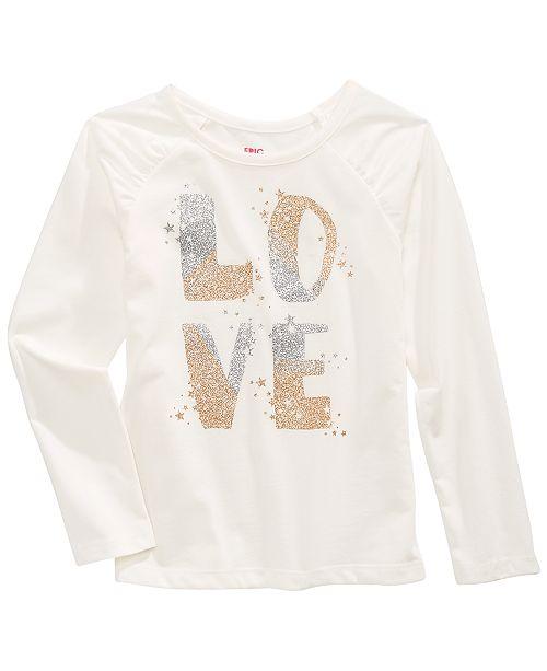 Epic Threads Toddler Girls Glitter Love T-Shirt, Created For Macy's