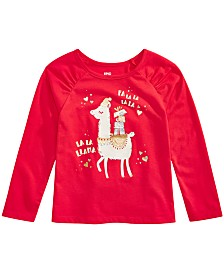 Epic Threads Little Girls Festive Llama T-Shirt, Created For Macy's