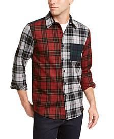 Men's Mixed Plaid Tartan Shirt