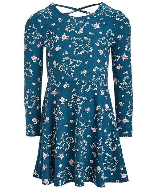 Epic Threads Toddler Girls Butterfly Fit & Flare Dress, Created For Macy's