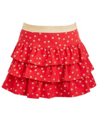 Little Girls Dot-Print Tiered Skirt, Created For Macy's