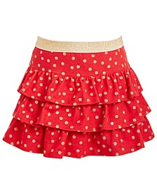 Toddler Girls Glitter Dot Tiered Skirt, Created For Macy's