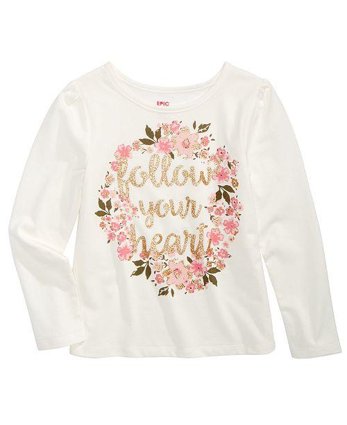 Epic Threads Toddler Girls Glitter Heart T-Shirt, Created For Macy's
